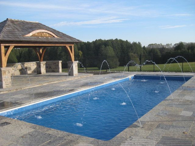 Trends in backyard design imagine fiberglass pools for Pool design guelph